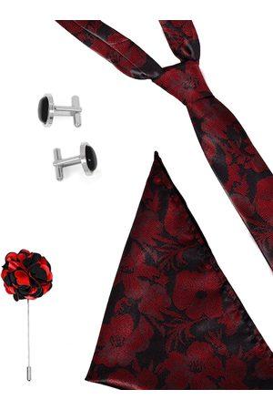 Blacksmith Men Black & Red Accessory Gift Set