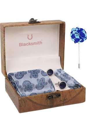 Blacksmith Men Blue & Silver-Toned Accessory Gift Set