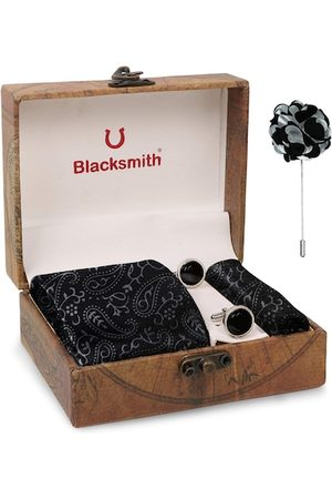 Blacksmith Men Black & Grey Accessory Gift Set
