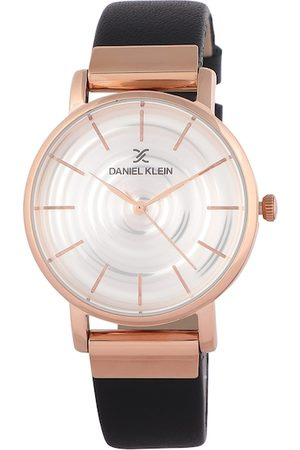 Daniel Klein Women Silver-Toned & Black Analogue Watch DK12076