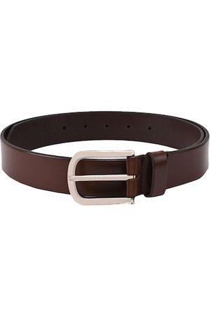 BuckleUp Men Brown Solid Leather Belt