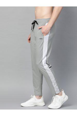 HRX Men Grey Slim Fit Rapid-Dry Antimicrobial Lycra Running Track Pants