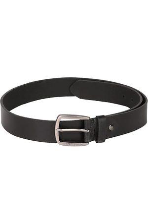 Ralph Lauren Men Black & Silver-Toned Solid Belt