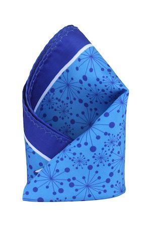 Alvaro Castagnino Blue Printed Pocket Square