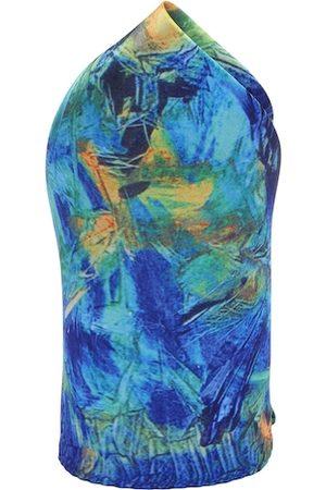 Alvaro Castagnino Blue Digital Print Pocket Square
