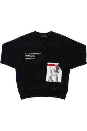 Dsquared2 Boys Sweatshirts - D2xibra Printed Cotton Sweatshirt