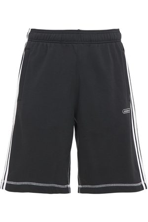 adidas Men Shorts - Contrast Cotton Blend Sweat Shorts