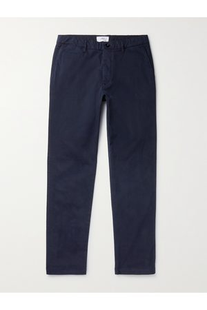 Mr P. Men Slim Trousers - Slim-Fit Stretch-Cotton Twill Chinos