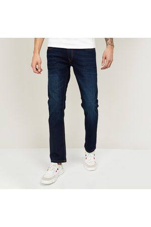 Forca Men Dark-Washed Slim Straight Fit Jeans