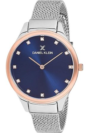 Daniel Klein Women Blue & Silver-Toned Analogue Watch DK12204-6