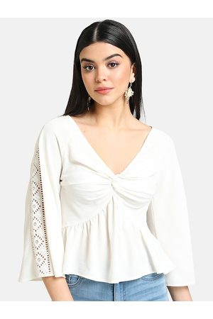 Kazo Women White Solid Top