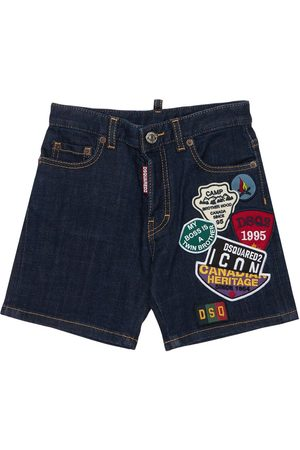 Dsquared2 Boys Shorts - Stretch Cotton Shorts W/ Patches