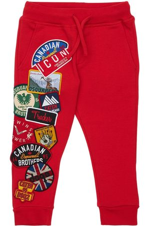 Dsquared2 Girls Sports Trousers - Cotton Sweatpants W/ Patches
