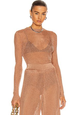 ALEXANDRE VAUTHIER Women Tops - Knitted Top in Coral