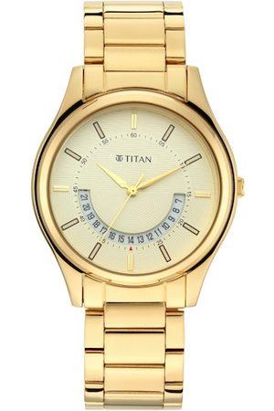 Titan Men Yellow Analogue Watch 1713YM06