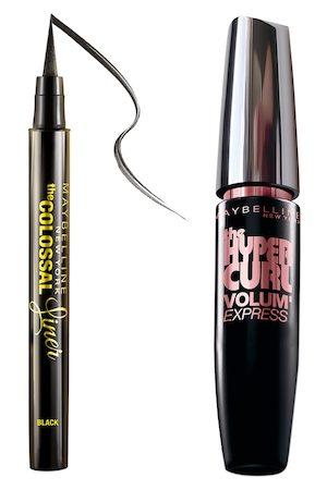 Maybelline New York Set of The Colossal Black Liner & Hypercurl Washable Black Mascara