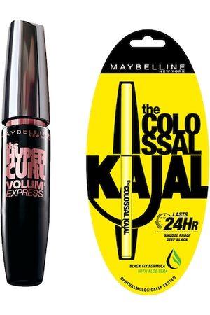 Maybelline New York Set of Black Colossal Kajal & Hypercurl Washable Black Mascara