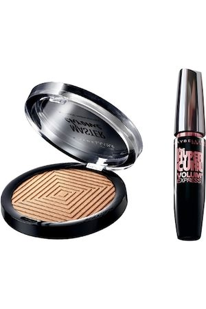 Maybelline New York Set of Face Studio Highlighter & Hypercurl Washable Black Mascara