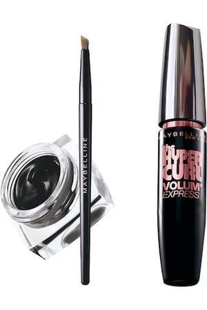 Maybelline New York Set of Lasting Drama Gel Eyeliner & Hypercurl Washable Black Mascara