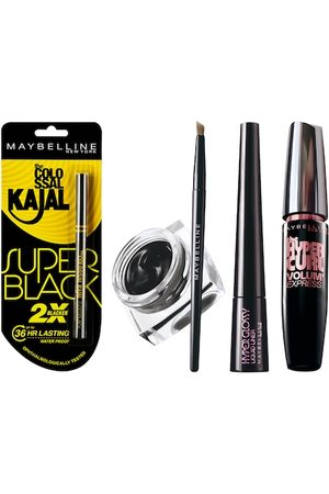 Maybelline New York Set of Gel & Liquid Eye-Liner With Mascara & Kajal