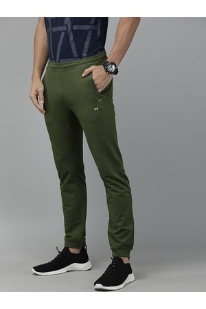 Wildcraft Men Olive Green Solid Straight Fit Joggers