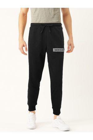 Calvin Klein Men Black & Grey Regular Fit Printed Joggers
