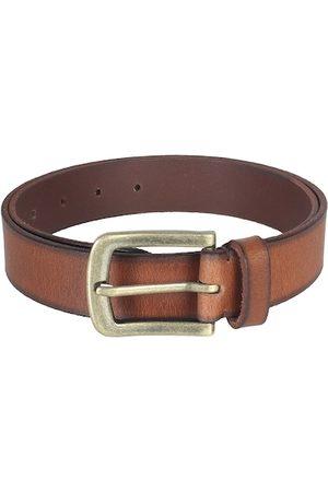 Aditi Wasan Men Tan Brown Solid Genuine Leather Belt