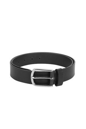 Aditi Wasan Men Black Solid Genuine Leather Belt
