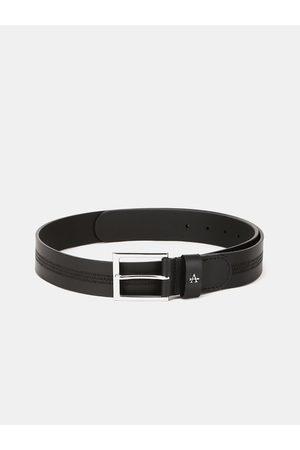Arrow Men Black Textured Leather Belt