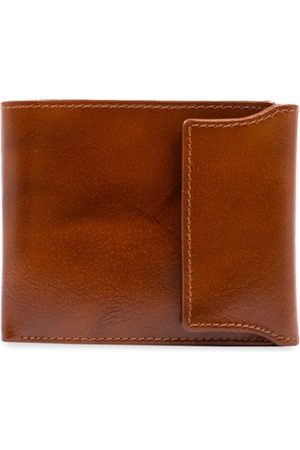RICH BORN Men Brown Solid Two Fold Wallet