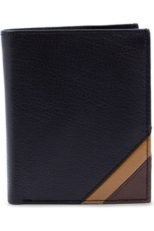 RICH BORN Men Black Solid RFID Protected Leather Card Holder