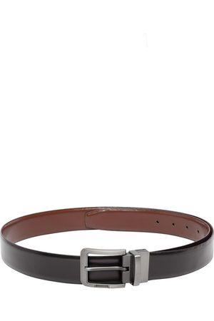 Teakwood Leathers Men Black Solid Belt