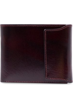 RICH BORN Men Maroon Solid RFID Protected Leather Two Fold Wallet