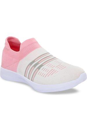 TimberWood Women White Textile Walking Shoes