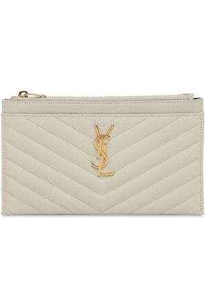 Saint Laurent Women Clutches - Small Quilted Leather Clutch