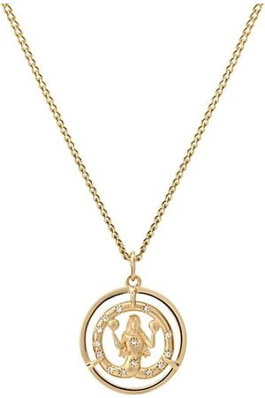 MIANSAI Necklaces - Eternita 14K Vermeil & Sapphire ID Chain Pendant Necklace