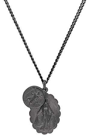 MIANSAI Men Necklaces - Mini Saints Matte Rhodium Pendant Necklace