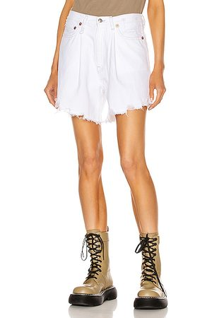 R13 Women Shorts - Damon Pleated Short in Holden