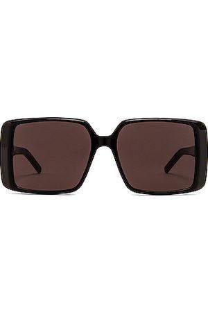 Saint Laurent Oversize Acetate Square Sunglasses in Shiny