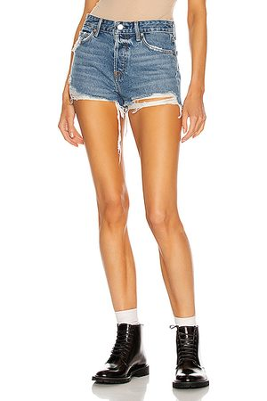 GRLFRND Women Shorts - Helena High Rise Cut Off Short in Point Dume