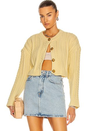 SANDY LIANG Women Jumpers - Naomi Cardigan in Butter