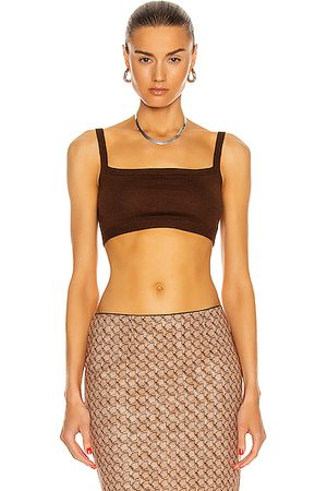 SANDY LIANG Jeep Bralette in Cocoa