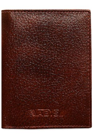 ABYS Men Brown Textured Two Fold Wallet