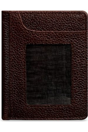 ABYS Men Brown Solid Card Holder