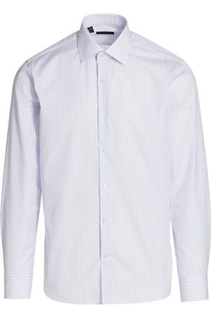 Saks Fifth Avenue Men Casual - COLLECTION Striped Cotton Shirt