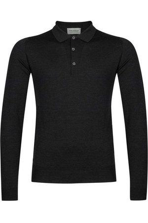 JOHN SMEDLEY Men Polo Shirts - Belper Polo Shirt - Hepburn Smoke