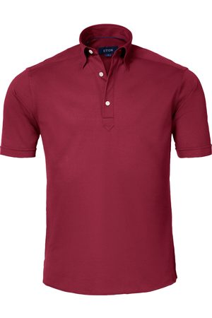 Eton Burgundy Polo Shirt - Short Sleeve Contemporary Fit 10000155358