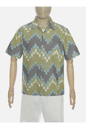 Universal Works Road Shirt - Zigzag Handloom Ikat