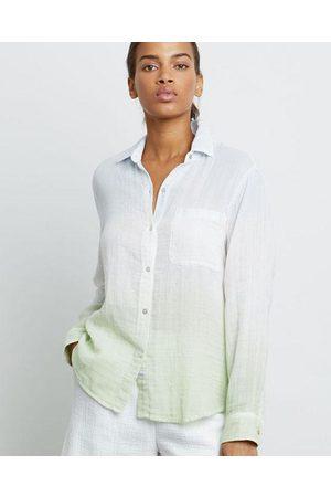Rails Ellis Shirt Mint Dip Dye