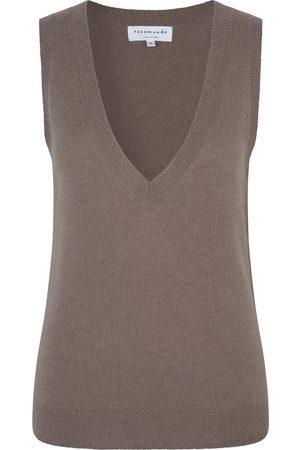 Rosemunde Laica Wool / Cashmere Vest - Dark Sand Shimmer Blend